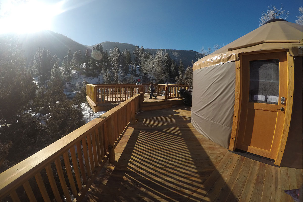 Yurt in Sinks Canyon