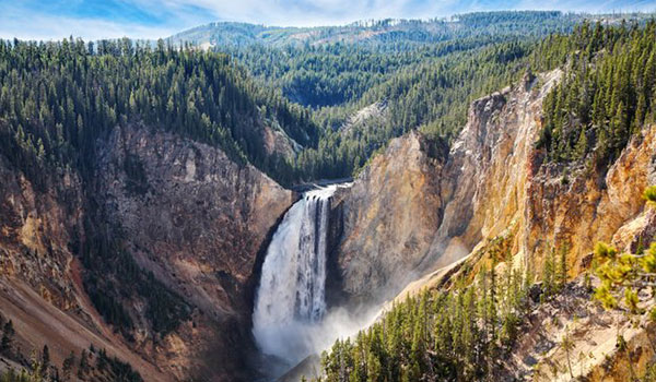 Yellowstone National Park waterfall