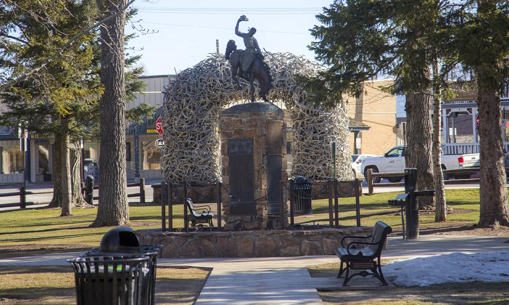 Downtown Antler Arch Statue