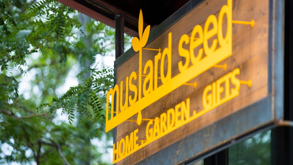 Mustard Seed business sign