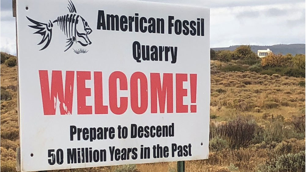 American Fossil Quarry sign