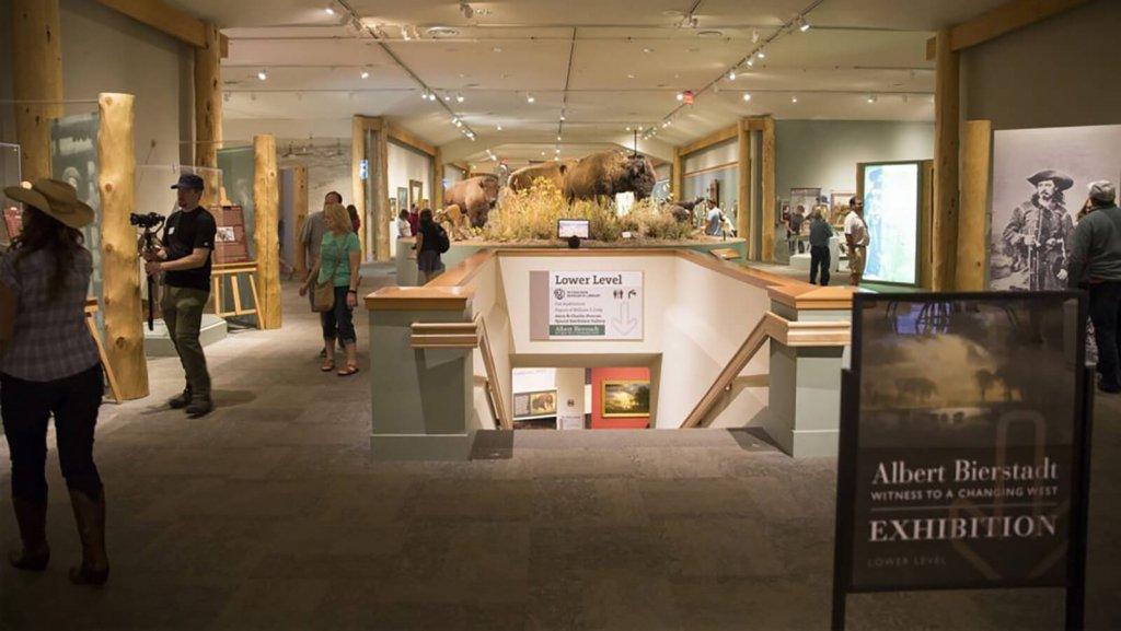 exhibit inside Buffalo Bill Center museum