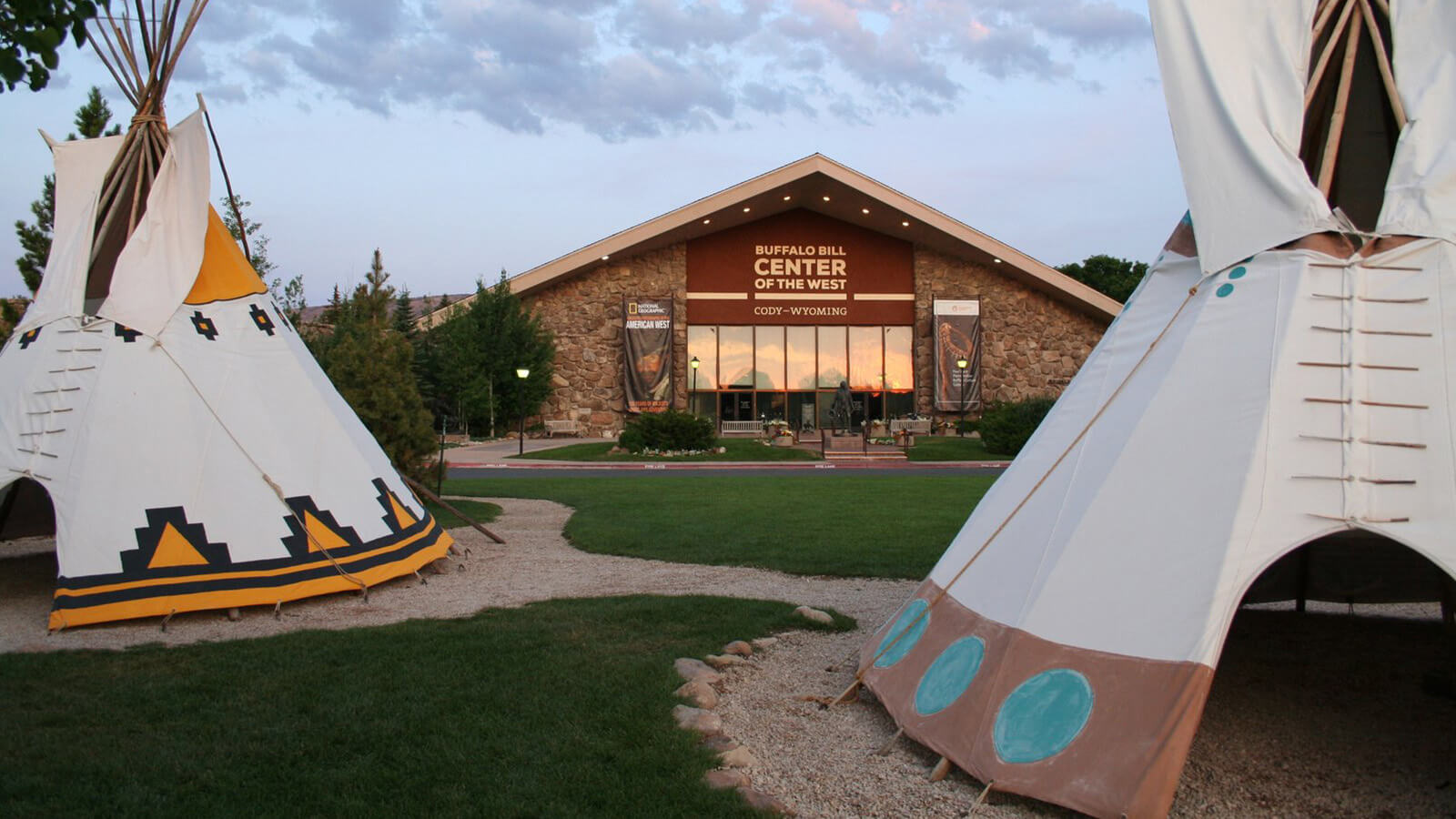 Museum with teepee display out front
