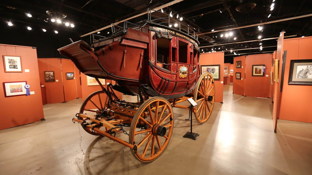 stagecoach on display in museum