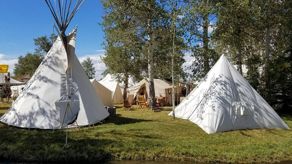 teepees at festival
