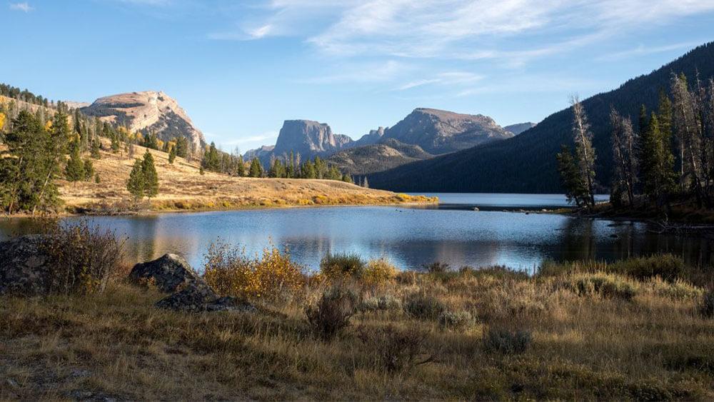 Green River Lakes Squaretop Mountain