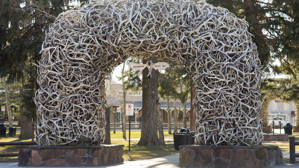 downtown square Antler Arch