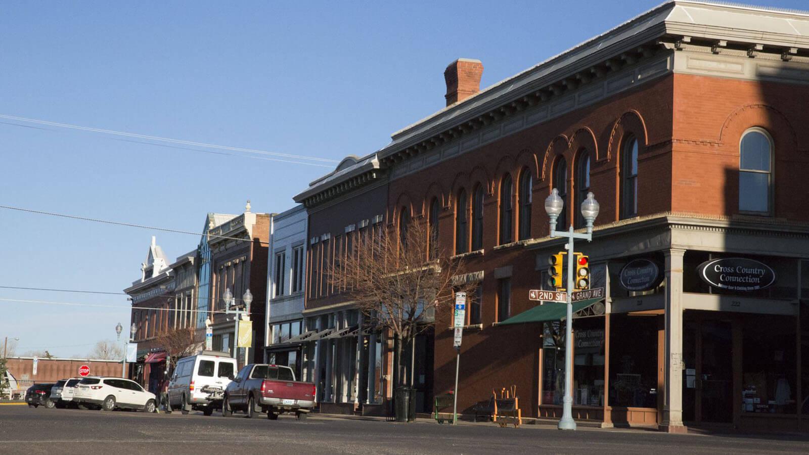 downtown Laramie street