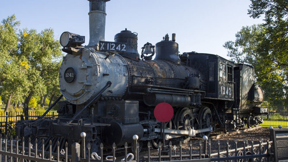 Lions Park locomotive display
