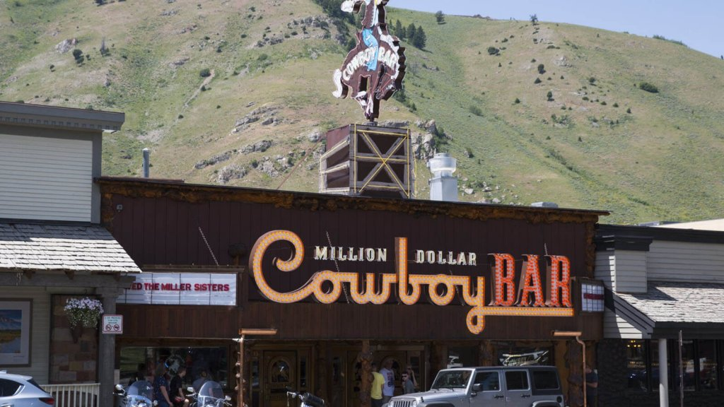 neon sign for Million Dollar Cowboy Bar