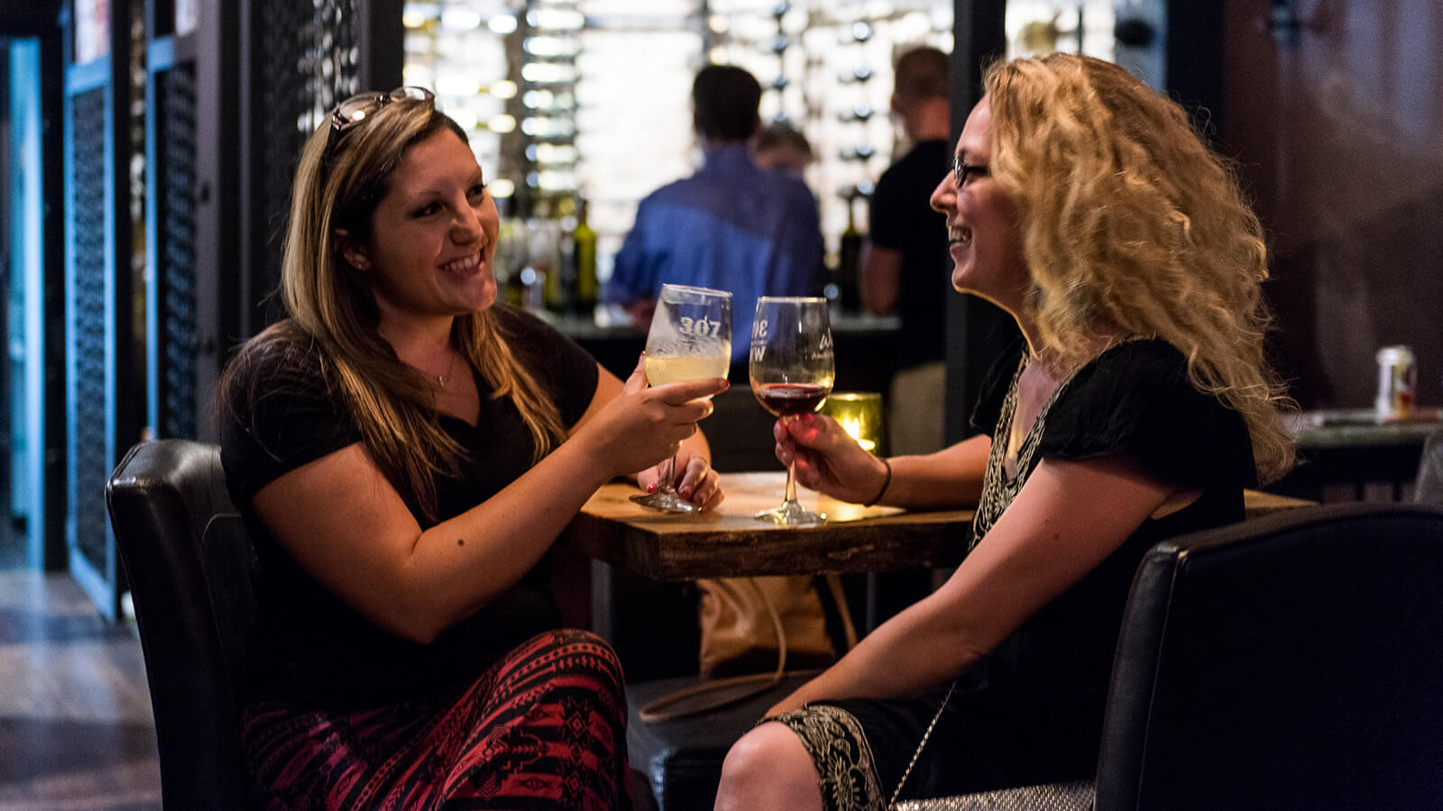 patrons at winery