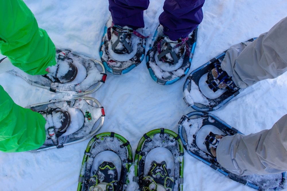 Snowshoes in a circle