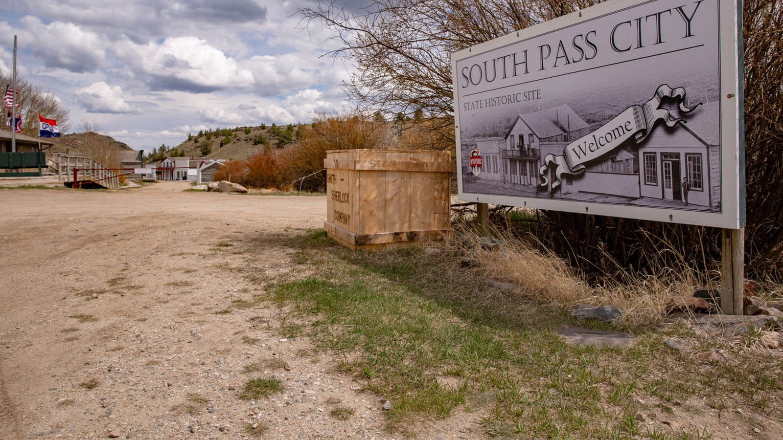 South Pass City State Historic Site welcome sign