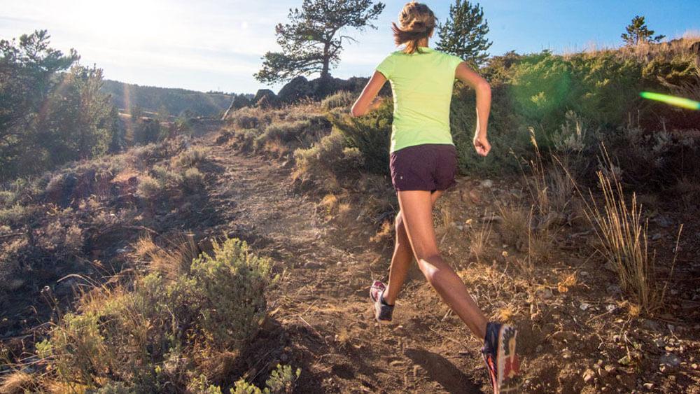 trail runner running