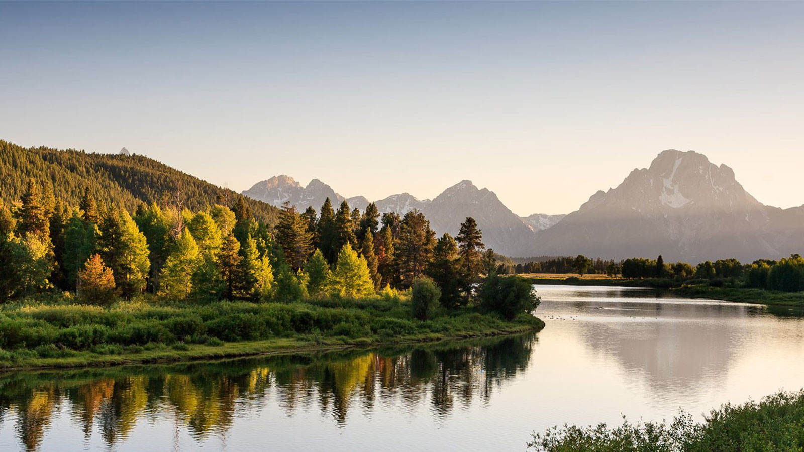 boater on water in Grand Teton National Park