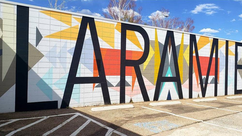 downtown Laramie mural