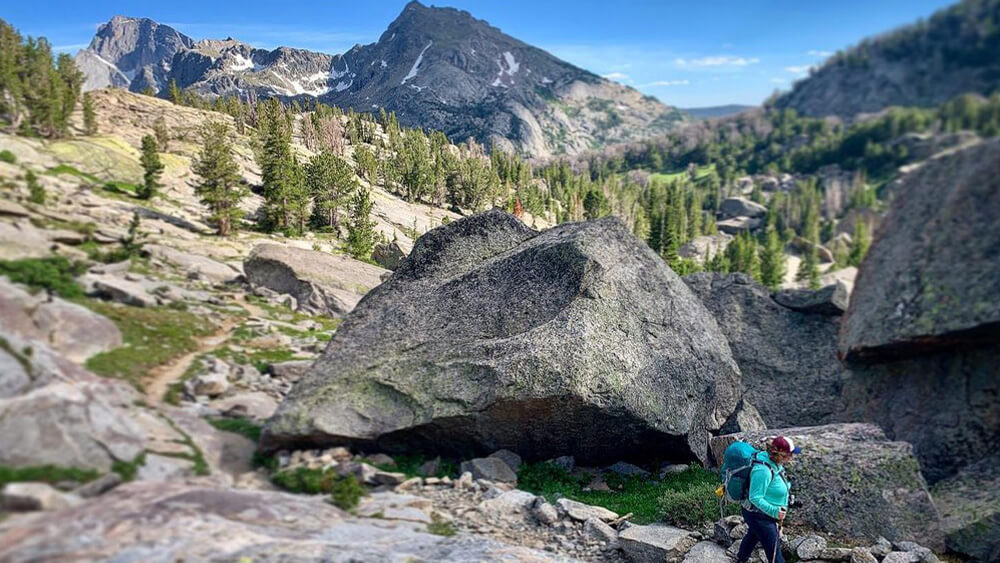Hiker on Continental Divide Trail
