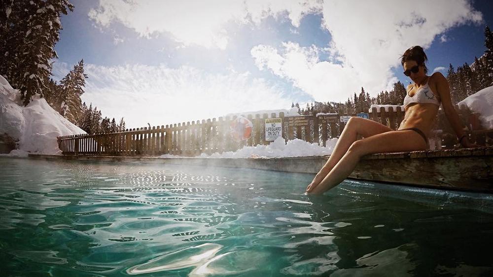 Soaking in Hot Springs water