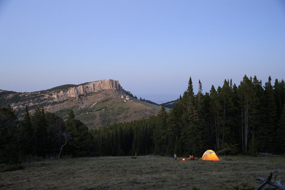 Tent camping in the BigHorn Mountains