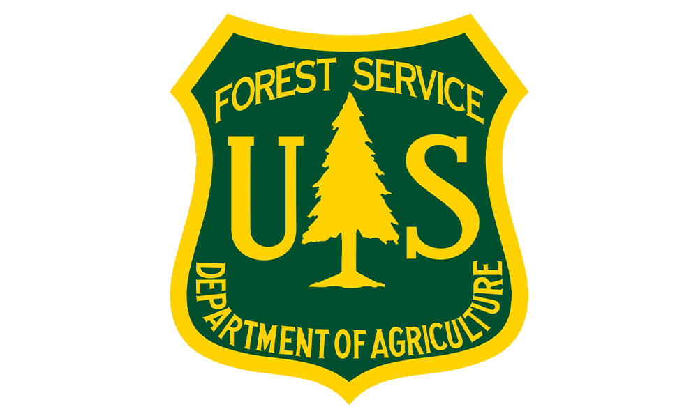 U.S. Forest Service Department of Agriculture logo Badge shaped green login g