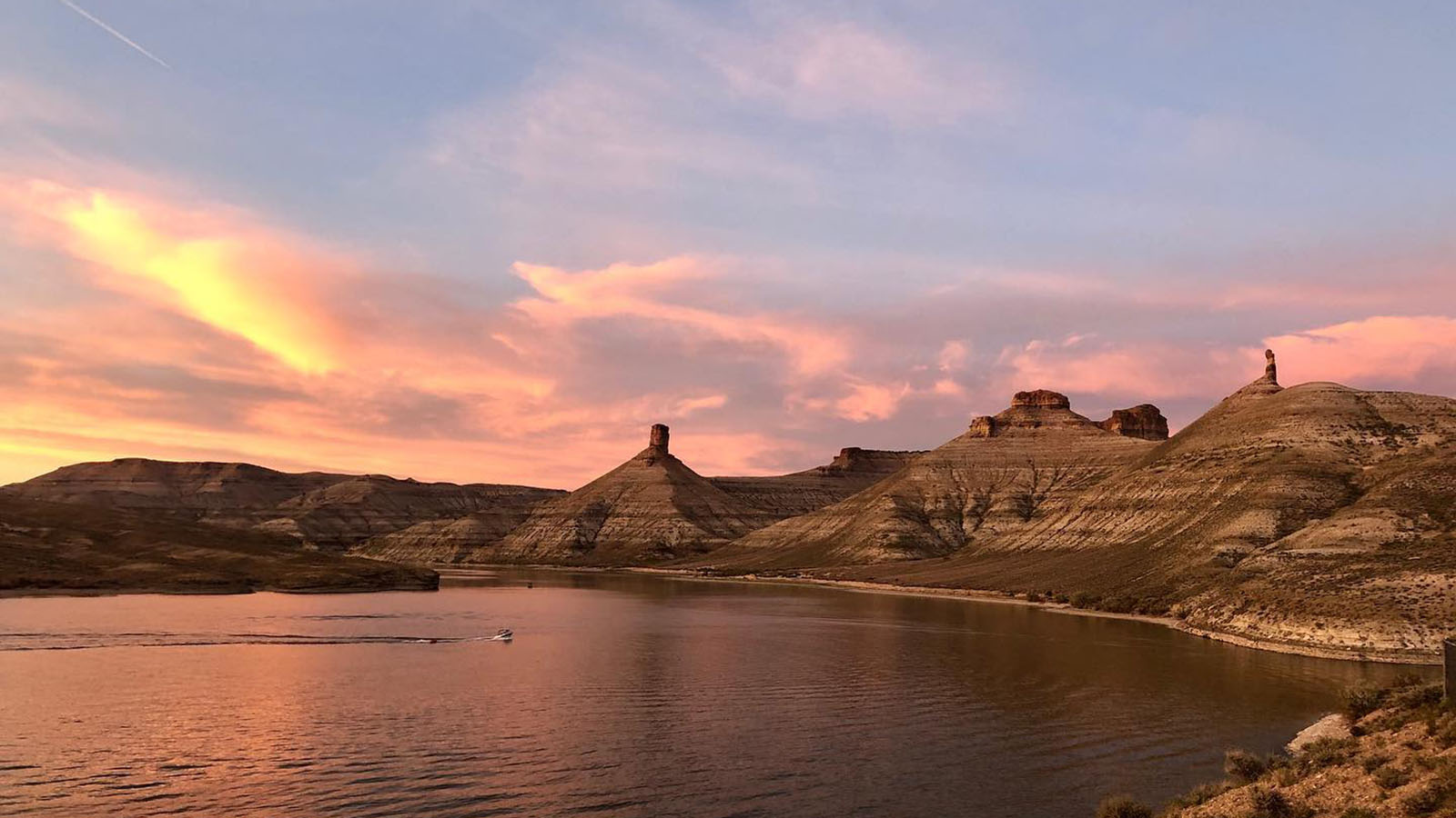 Sunset at Firehole Canyon Campground