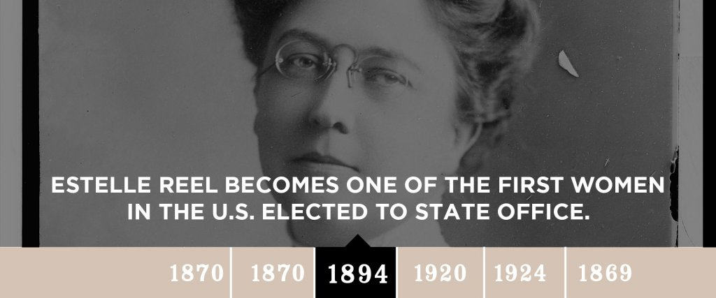 1894 - Estelle Reel becomes one of the first women in the U.S. elected to state office.