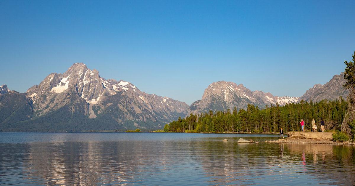 Lake in front of the Teton Mountain Range