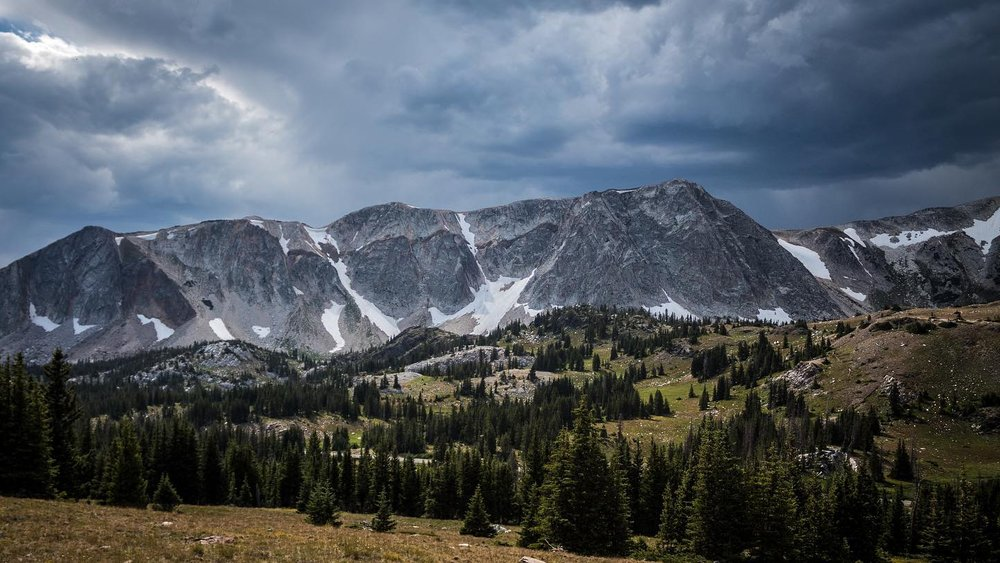 Thunderstorm rolling over the moutain