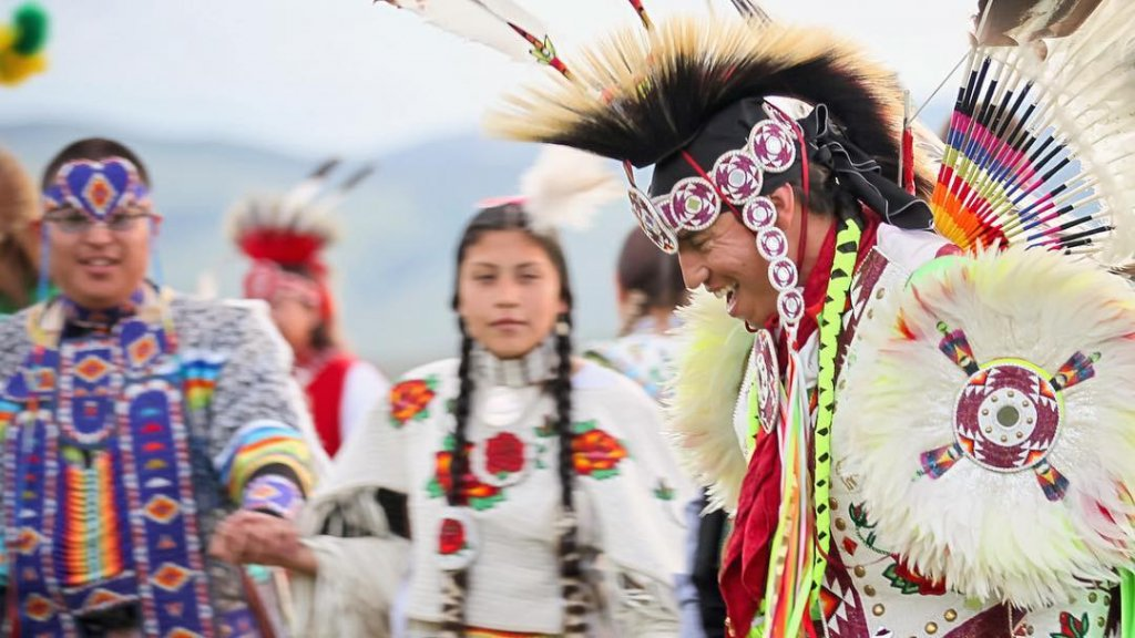 Traditional powwow near the Wind River Reservation, Wy.
