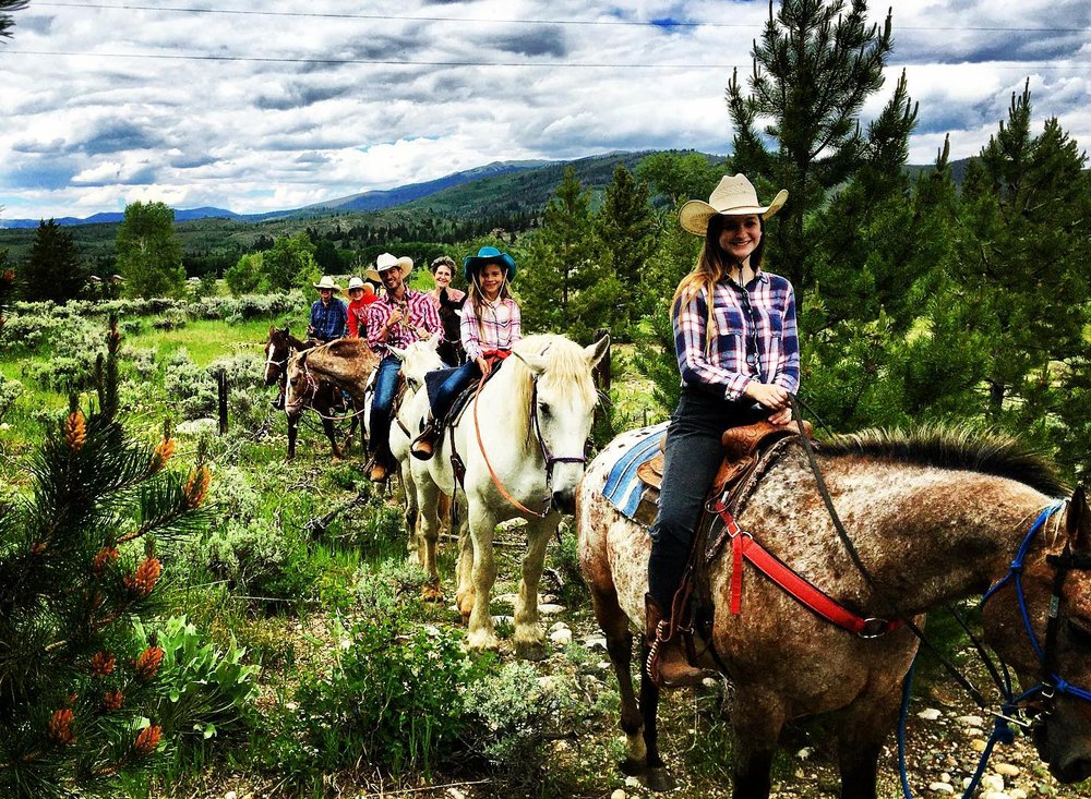 Horse Trail riders.